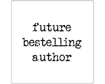 Future Bestelling Author Square Stickers