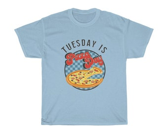 Tuesday is Pizza Day Heavy Cotton Tee