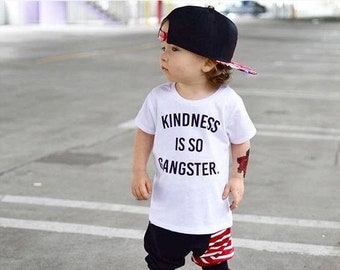 1e7d8313a8550c Kindness is Gangster Kid s Tee + Tank
