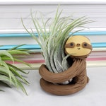 Sloth Air Plant Holder, Sloth Gift for Her, Small Sloth Planter, Gift for Him, Best of Fall, Air Planter Gift, Unique Gift, Desk Accessory