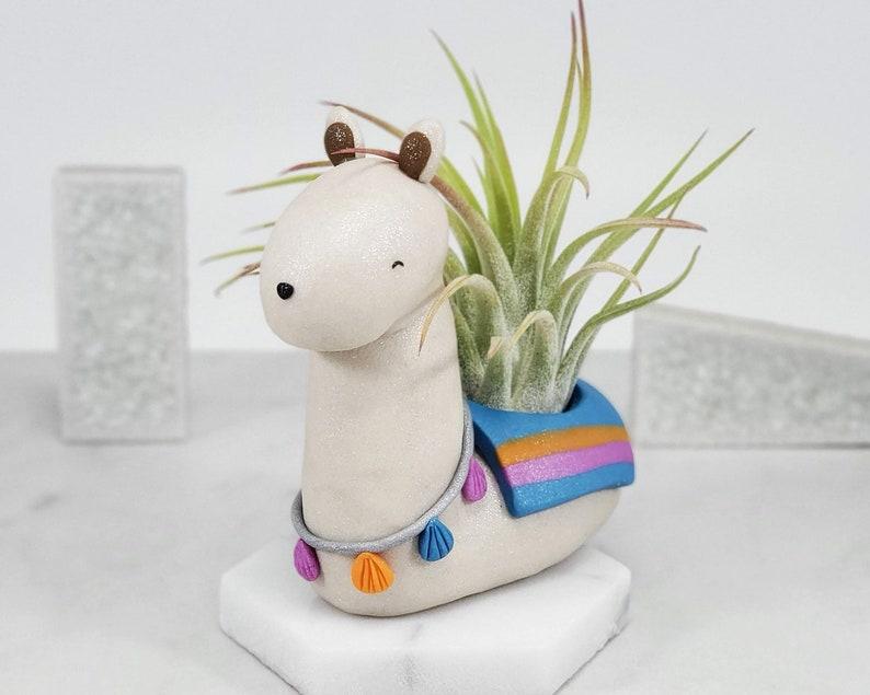 Lama air planteur, petit Lama cadeau, porte plante d'air, Lama cadeaux, décor de Lama, cadeau pour elle, Lama plante, accessoire de bureau Lama