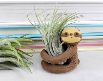 Sloth Air Plant Holder, Gift Women, Small Sloth Planter, Gift for Her, Small Air Planter, Desk Accessory, Gift for Her, Small Gift