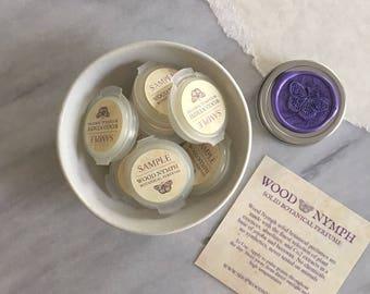 Natural Solid Perfume Sampler - Set of 3 Handcrafted Botanical Perfume Samples