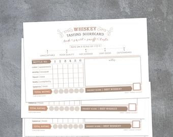 WHISKEY tasting scorecards (12)