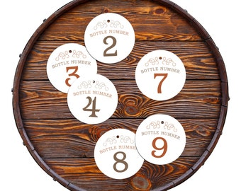 new! RUM tasting bottle number tags 1 to 9 INSTANT DOWNLOAD printable