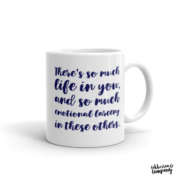 Emotional larceny mug | singles movie | 90\'s movie quotes | pearl jam |  gifts under 20 | gifts under 15