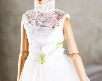 "Tonner Dejavu ellowyne wilde 16"" Antoinette doll clothes white lace dress"