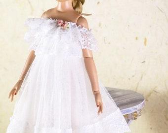 "Tonner Dejavu ,Antoinette ellowyne wilde 16"" doll clothes white lace dress"