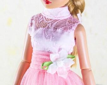 "Tonner Dejavu ,Antoinette ,ellowyne wilde 16"" doll clothes sweet pink lace dress"