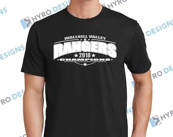 227cf6acf Custom Championship T-Shirt   Custom Athletic Apparel   Personalized Shirt    Varsity Shirt   Fan Wear   Spirit Wear (2 Color Design)