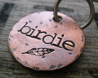 Hand Stamped Pet ID Tag - Personalized Pet/Dog Tag - Dog Collar Tag - Engraved Dog Tag - Handsatmped Pet Tag - Copper Dog Tag