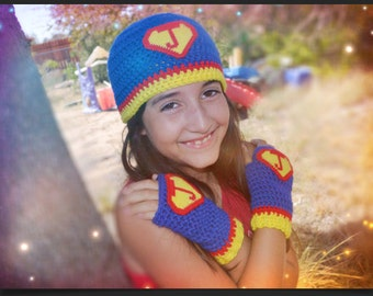 4f02b6f7600 Personalized Super Hero Hat and Gloves