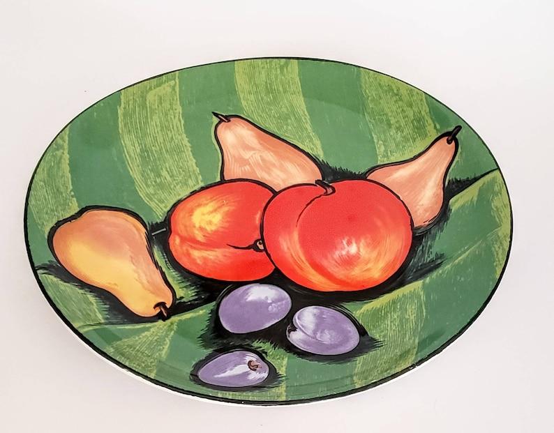 Incroyable Vintage Plate Sango Tuscany #4902 Fruit Kitchen Decor/Vintage Kitchen Decor  Green Orange Purple Fruit Display By Sango Tuscany Style #4902