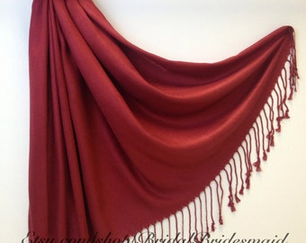 ANY 2 COLOR SCARF - Burgundy Scarf - Trendy Burgundy Scarf - Wraps for Evening - Evening Shawl - Neutral Color Wrap - Scarf Fashion