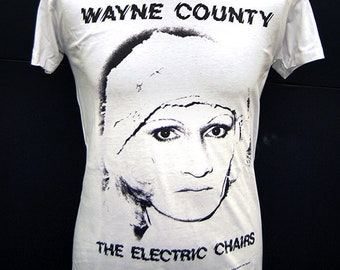 Wayne County and the Electric Chairs - Thunder When She Walks - T-Shirt