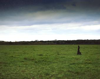 Lowland, original fine art photography, print, landscape, nature, 8x12, hungary, makó, nature, woman, girl, vast, space, forest, alföld
