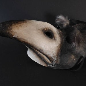 Masquerade mask Crow mask Common raven mask Corvus mask Rook mask Bird mask Plague doctor mask Scary mask Adult mask