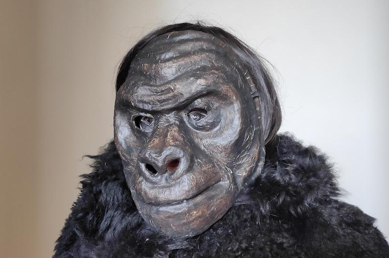 Animal Mask, Masquerade Mask, Gorilla Mask, Monkey Mask, Paper Mache Mask,  Fancy Dress, Face Mask, Carnival Mask, Party Mask