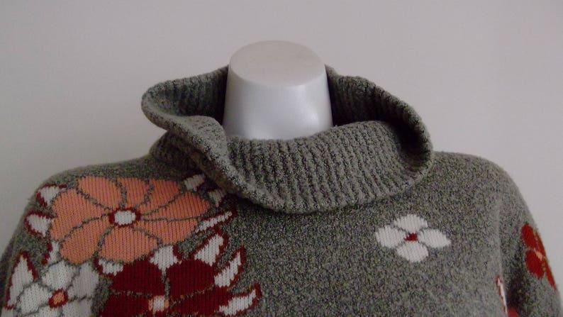 Vintage Oatmeal Knit Chunky Slouchy Sweater  Fall sweater  Thick Sweater  Turtle Neck sweater  Masri Bros  CarnivalofFashion