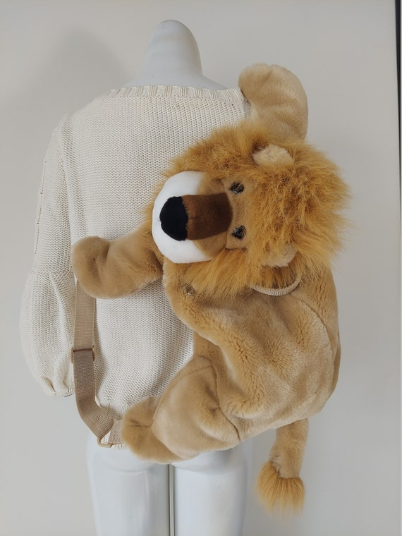 Vintage 90s lion purse / 90s lion backpack purse /