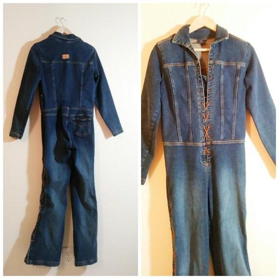 Vintage 90s Jumpsuit / vintage denim jumpsuit / la