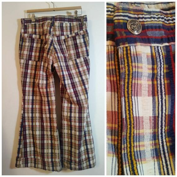 Vintage 70s bell bottom pants / 70s bell bottom pl