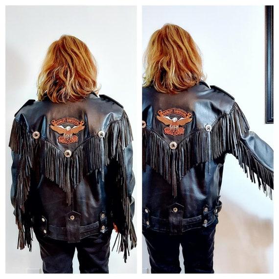 vintage Fringe leather jacket / vintage fringe ja… - image 7