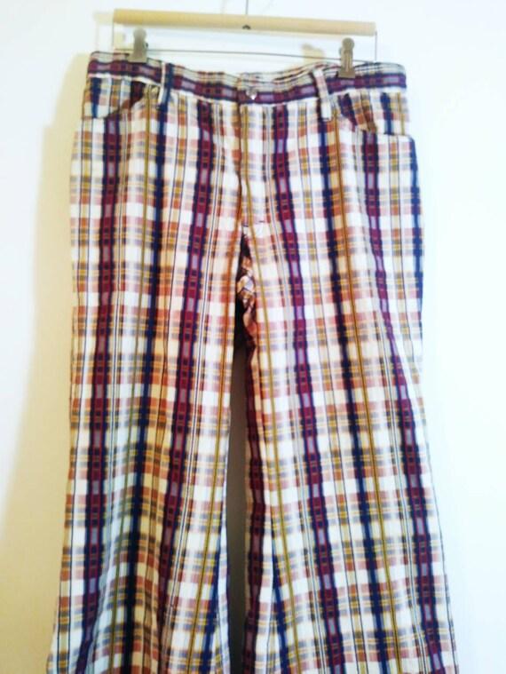 Vintage 70s bell bottom pants / 70s bell bottom p… - image 2