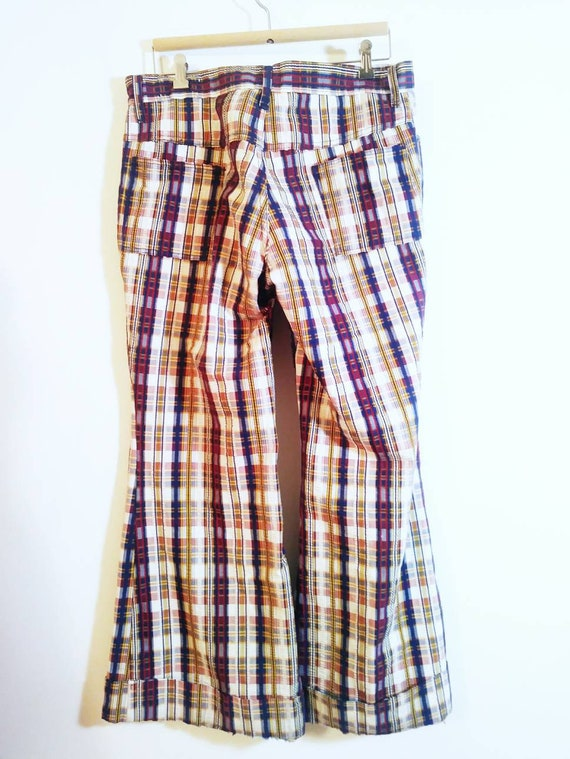 Vintage 70s bell bottom pants / 70s bell bottom p… - image 5