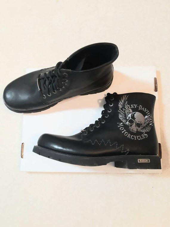 Harley Davidson boots / Harley moto boots / embroi