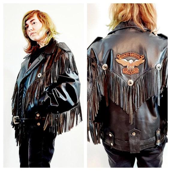 vintage Fringe leather jacket / vintage fringe ja… - image 1