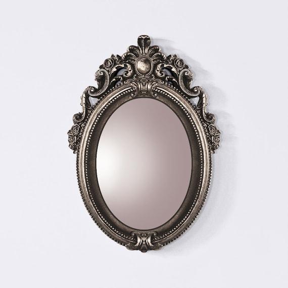 Silver Baroque Mirror Oval Baroque Framed Mirror Silver   Etsy