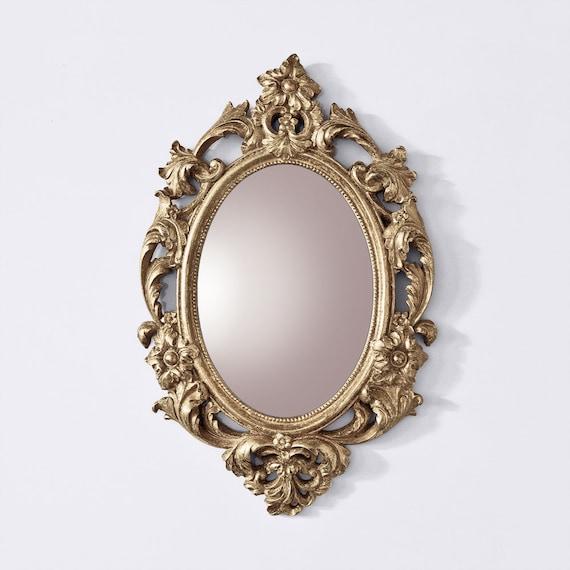 Baroque Mirror Vintage Style Vintage Mirror Oval Mirror Etsy
