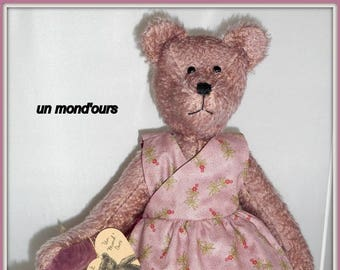 Salome bear pink mohair and cashmere in a world ' bear
