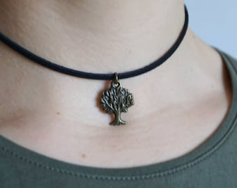 Tree of life choker Tree of Life Necklace Tree Jewelry Tree-of-Life Pendant Sacred Tree Necklaces Amity Divergent factions Divergent Jewelry