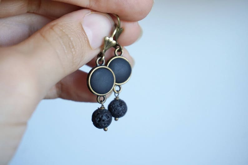 Diffuser earrings \u2022 Lava earrings \u2022 Lava bead earrings \u2022 Lava stone earrings \u2022 Essential oil diffuser jewelry \u2022 Aromatherapy gift for women