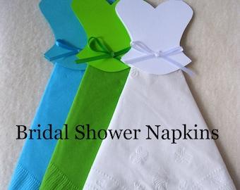Bridal Shower Decorations-Wedding Dress Napkins-Bridal Shower Luncheon Napkins-Wedding Favors-Mr.& Mrs. Wedding Decorations Table Decor