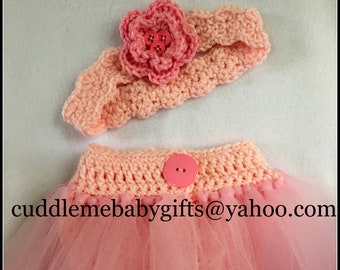 Baby Girl Crochet Headband and Diaper Cover-Ballerina Baby Crochet Diaper Cover-Baby Girl Headbands-Crochet Ballerina Photo Prop-Baby Girl