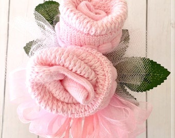 Baby Sock Corsage-Mommy to be Baby Shower Corsage-Grandma to be-Were Expecting Baby Shower Decorations, Mommy to be Pin, Baby Shower Pin
