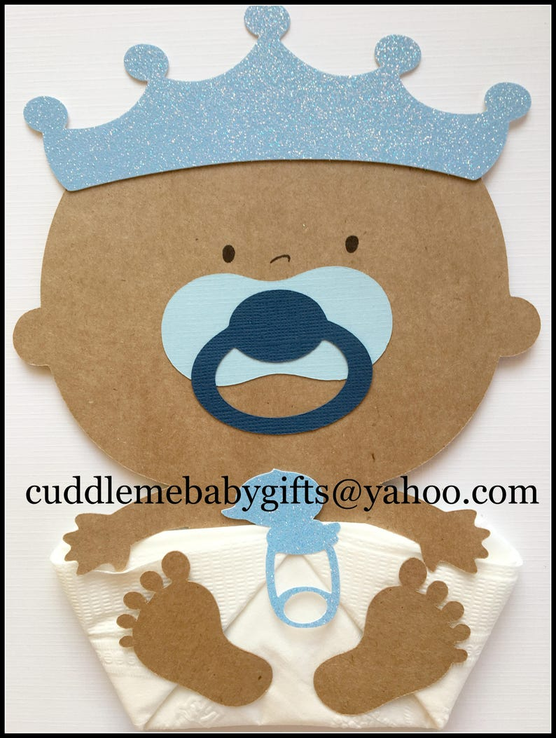 African American Prince Baby Shower Decorations Welcome Baby Etsy