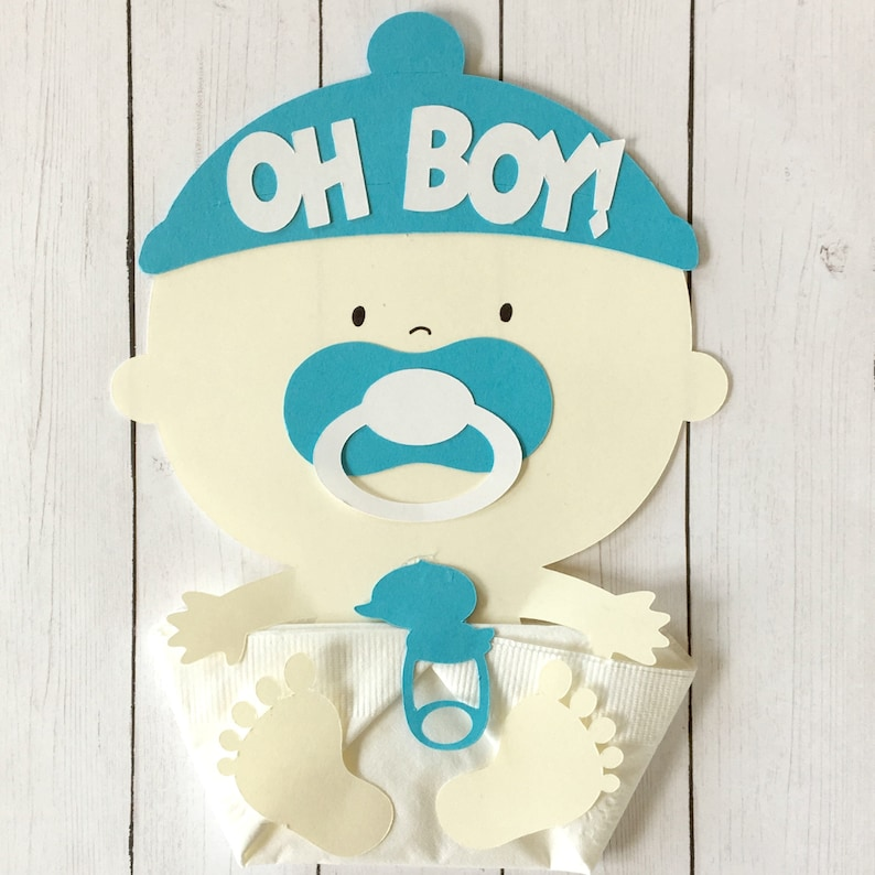 Oh Boy New Baby Shower Napkins-Welcome Baby Shower image 0