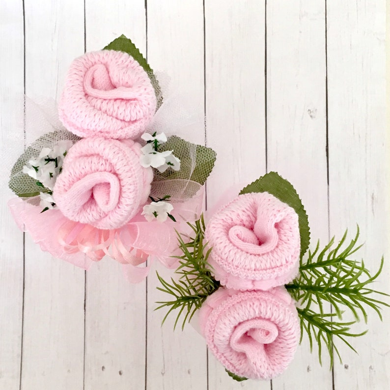 Baby Sock Corsage-Mommy to be Baby Shower Corsage-Grandma to be-Were Expecting Baby Shower Decorations.