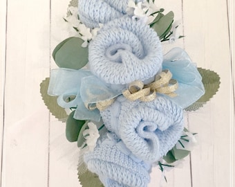Baby Shower Corsage-Mommy to be Baby Shower Corsage-Grandma to be Newborn Baby Sock Corsage-Were Expecting Baby Shower Decorations.