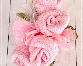 Baby Sock Corsage, Baby Girl, Baby Shower Decor, Baby Shower Gift, Mom to be Pin, Baby Shower Pin, Grandma Corsage, Grandma Baby Shower Pin.