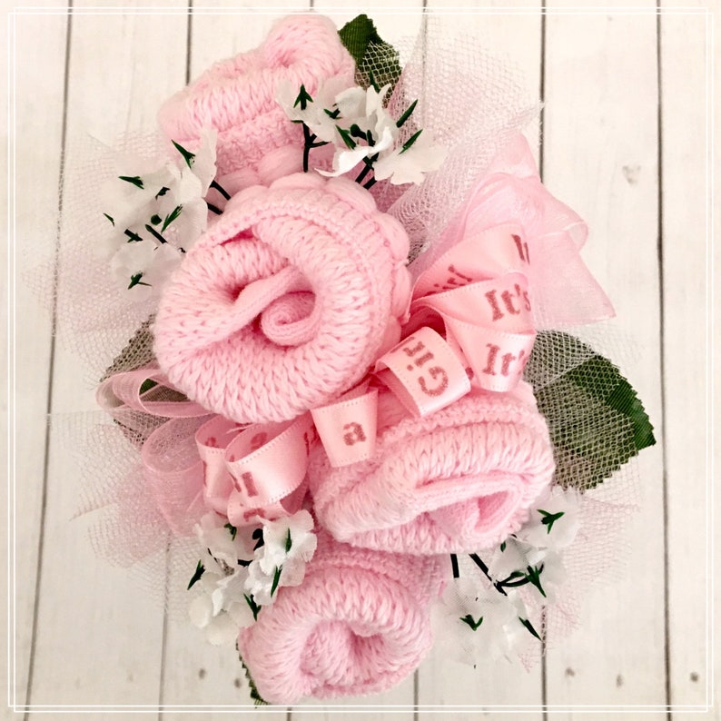 Baby Sock Corsage Mommy to be Baby Shower Corsage Grandma image 0