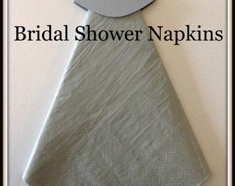 Wedding Dress Bridal Shower Napkins-Wedding Napkins-Wedding Shower Decorations-Bridal Shower Decorations-Table Decorations-Napkin Holder.