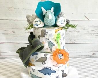 Baby Boy Diaper Cake Baby Shower Centerpiece-Baby Shower Gift-Baby Shower Decorations-Expecting Mom Gift.