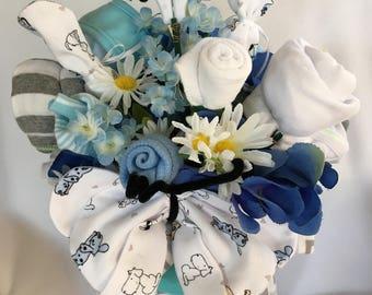 Baby Boy Baby Shower Gift-Baby Shower Centerpiece Diaper Bouquet-Baby Shower Decor-Baby Shower Favor.