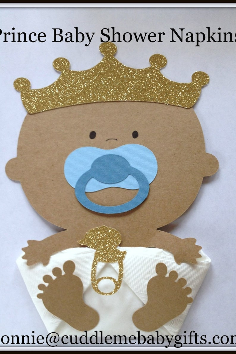 African American Prince Baby Shower Napkins Baby Shower Etsy