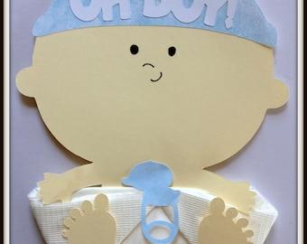 Oh Boy Baby Shower Napkins-Baby Boy Shower Napkins-Table Decor.
